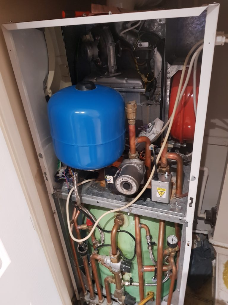 boiler with unvented hot water cylinder, central heating services, gas engineer