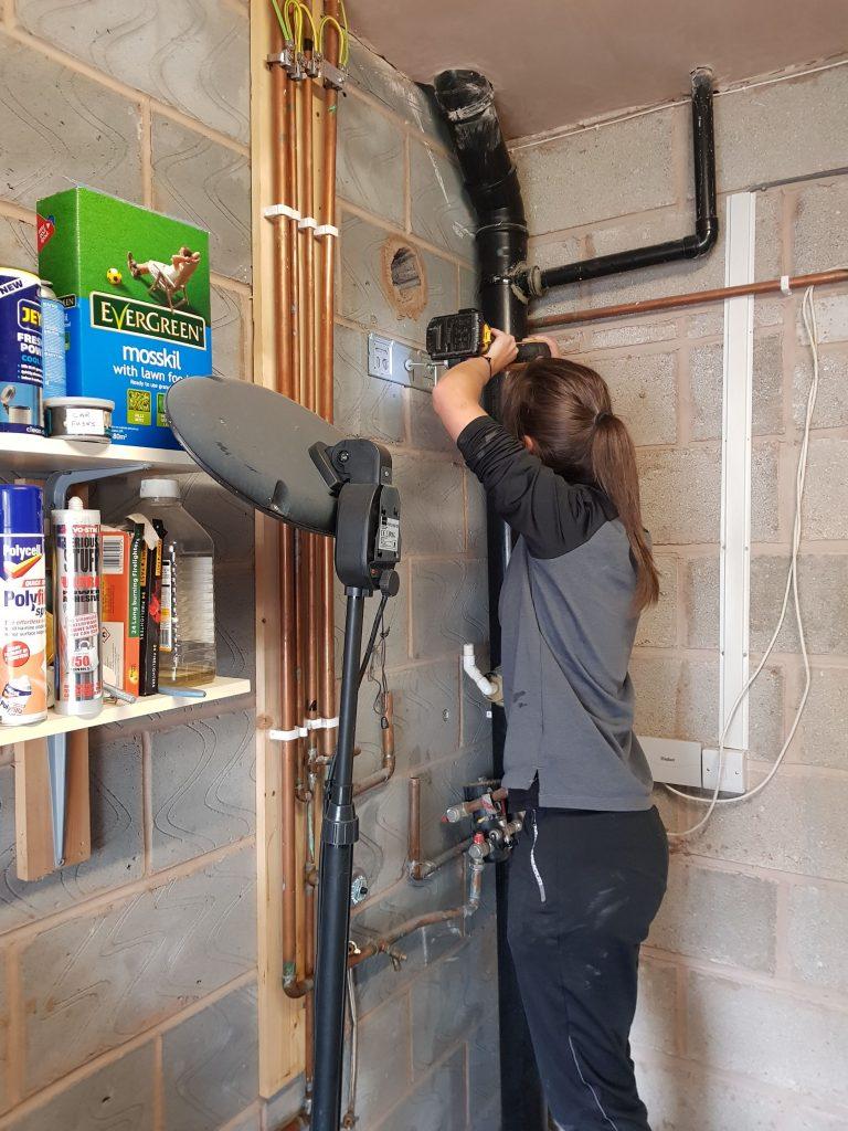 female plumber, boiler installation liverpool, boiler installation, boiler, Viessmann,