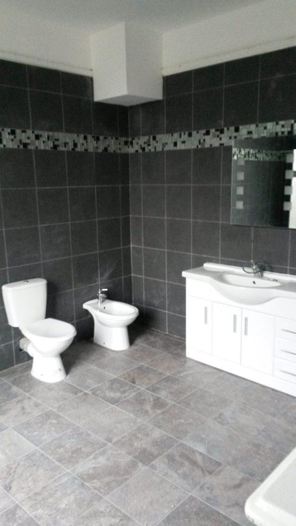 bathroom, tiling, toilets, sinks, shower
