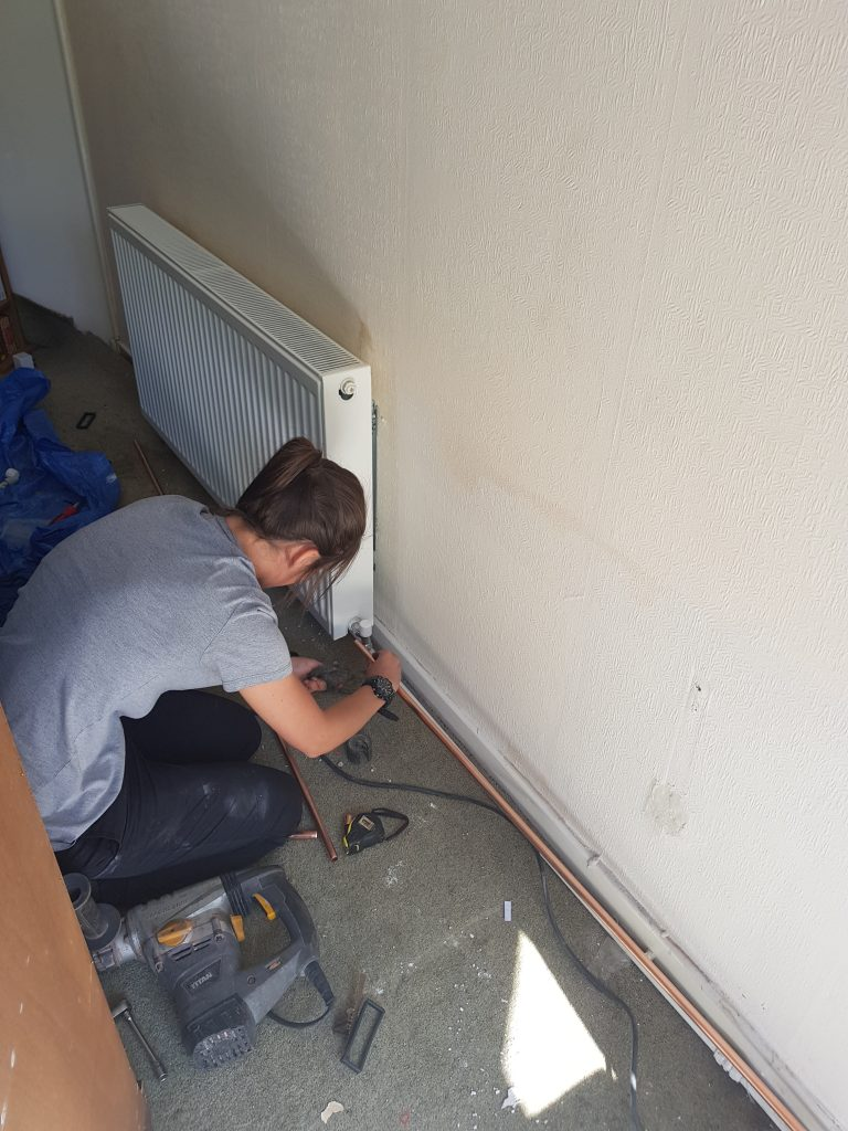 Central heating installation, radiators, heating services